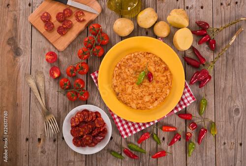 Foto  Spanish omelette.