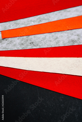 Red Colored Bright Felt Textile Material Samples Of Soft