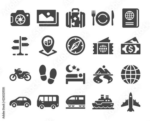 travel icon set