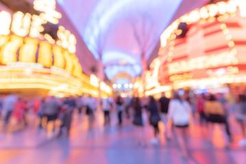 Fototapeta Las Vegas Blurred background night