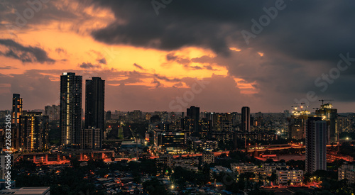 10 seconds of a stormy Mumbai sunset captured in a single frame! Canvas Print
