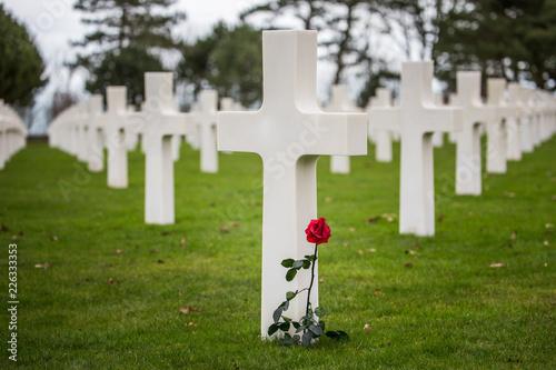 Keuken foto achterwand Begraafplaats Normandy American Cemetery Omaha Beach northern France