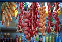 Dried Paprikas And Garlic Stri...