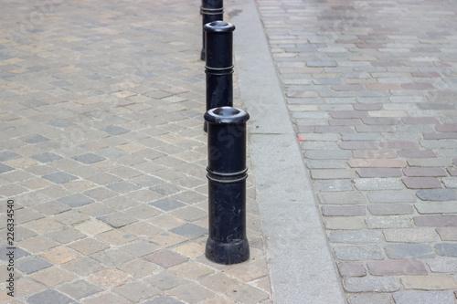 Fotografia, Obraz  Poteau sur trottoir