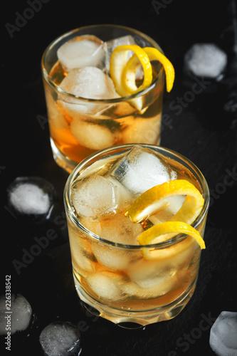 Fotobehang Cocktail Whiskey or Rum