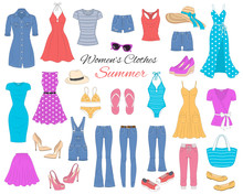 Women Clothes Collection, Vect...