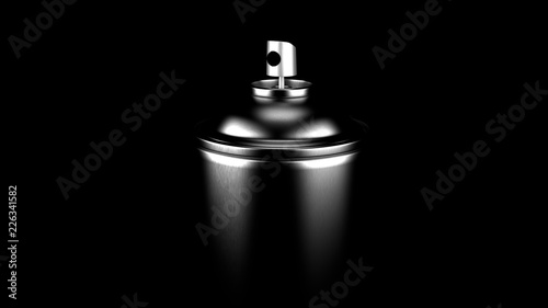 Aerosol can isolated without label Canvas Print