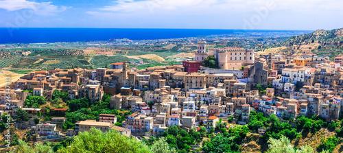 Beautiful medieval village (borgo) Corigliano Calabro in Calabria, Italy