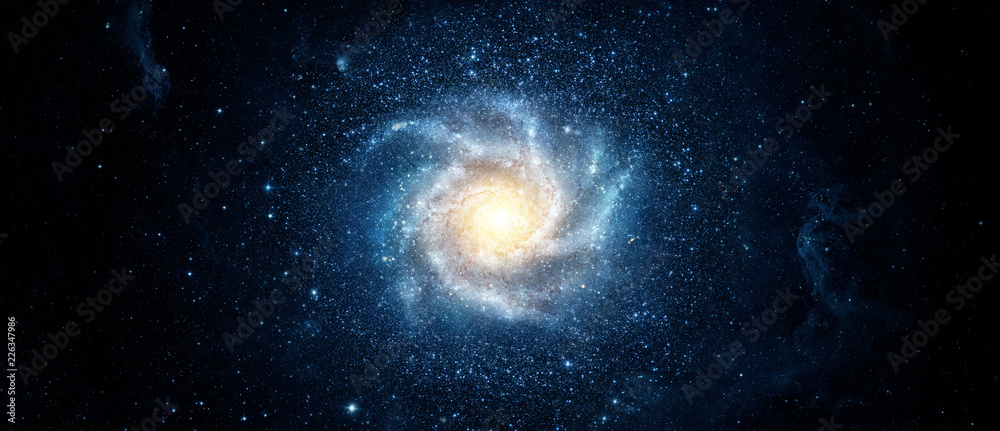 Fototapety, obrazy: Panoramic view of the galaxy and star. Abstract space background. Elements of this image furnished by NASA.