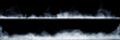 canvas print picture - Panoramic view of the abstract fog or smoke move on black background. White cloudiness, mist or smog background.