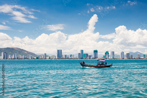 Keuken foto achterwand Aziatische Plekken Nha Trang Vietnam Skyline