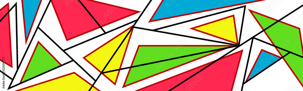 Abstract modern art pattern, vector illustration