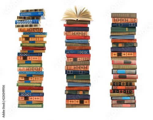 many book pile closeup Wall mural