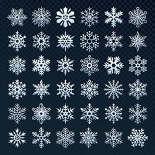 Snowflakes Silhouette. Winter ...