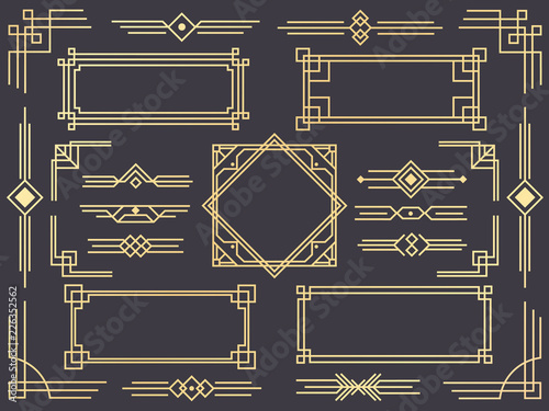 Photographie  Art deco line border