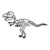 Fototapeta Dinusie - comic book style cartoon dinosaur bones
