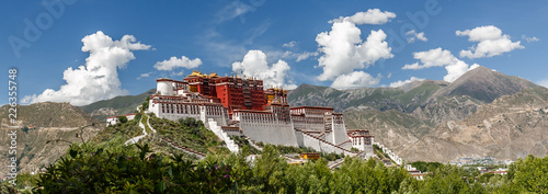 Fotografia Panorama of Potala Palace, Tibet (China, Asia)