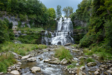 Waterfall At Chittenango Falls State Park, Upstate New York