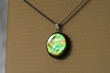 Holographic Pendant On Stainless Steel Chain