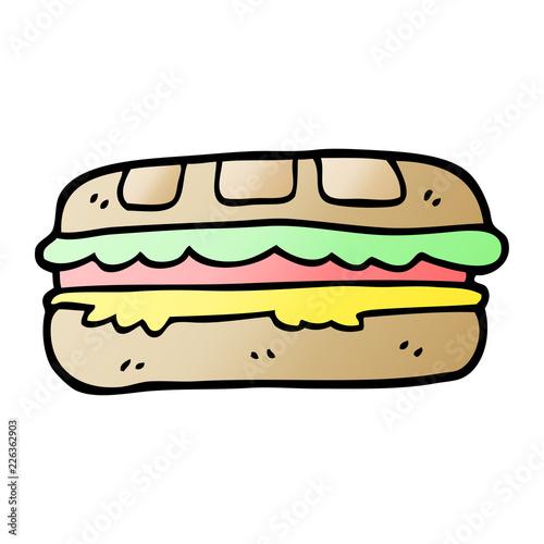 Fotografía  vector gradient illustration cartoon tasty sandwich