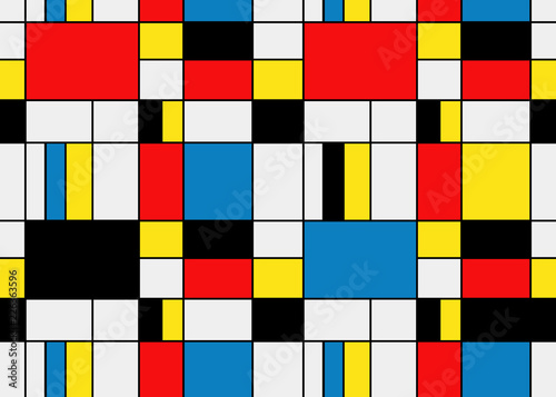 Photo  Colorful background in mondrian style