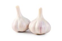 Fresh Garlic Closeup Isolated ...