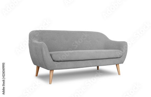 Stampa su Tela Comfortable sofa on white background