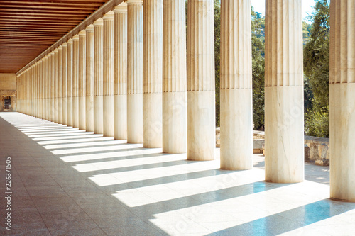 Fotografering the ancient Greece colonnades.