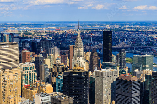 Fototapeten New York Vue de Manhattan depuis l'Empire State Building, New York City
