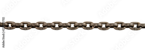 Leinwand Poster steel chain isolated