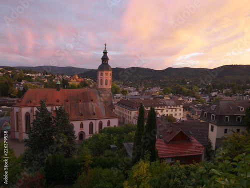 Fotografiet  Sonnenuntergang in Baden-Baden