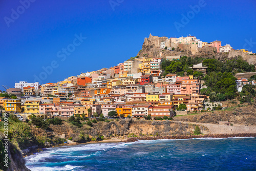 Photo  Beautiful view of Castelsardo town, Sardinia island, Italy