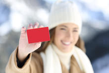 Woman Showing A Blank Credit C...