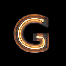 Neon Light Alphabet G With Cli...