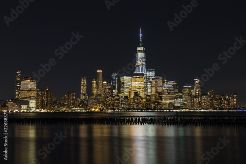 Keuken foto achterwand New York City Vue de nuit de Manhattan, New York, Etats-Unis