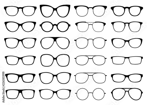 Glasses vector collection. Sunglasses set Poster Mural XXL