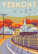 Travel Poster Of Vermont, USA