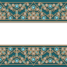 Vintage Gold Frame With Jewelry Border Pattern