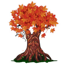 Fantasy Deciduous Tree With Fa...