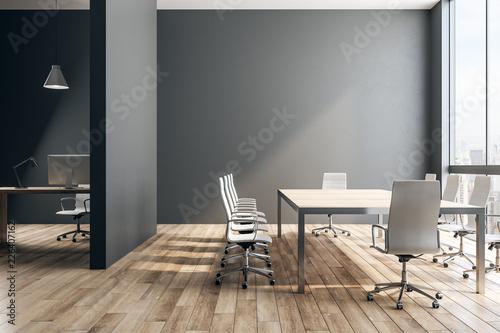 Obraz Black office interior - fototapety do salonu
