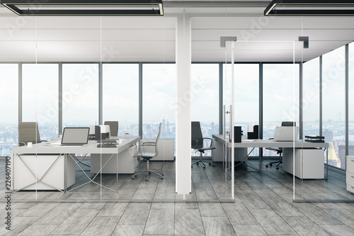 Poster Airport Stylish office interior