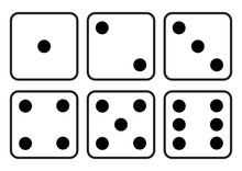 Dice Icon. Craps. Six Dice Set...