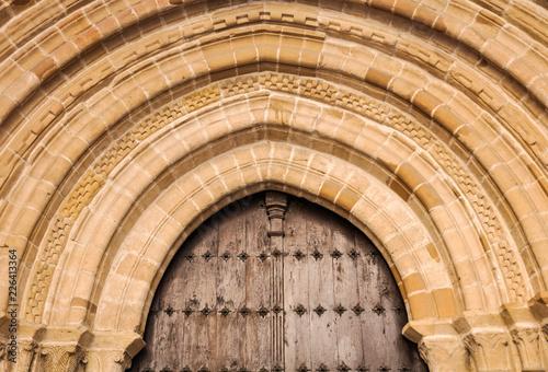 Fotografie, Obraz  Portada de la iglesia de San Nicolás, Pamplona, Navarra, España