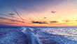 canvas print picture - Sunset On The Baltic Sea