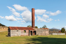 Remains Of Blackwater Gold Mine In Waiuta, West Coast, New Zealand