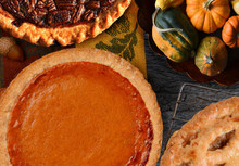 Pumpkin, Pecan And Apple Pies For Thanksgiving