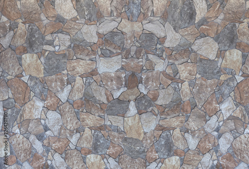 stone wall with cement grout indoor or out colorful rocks and textures