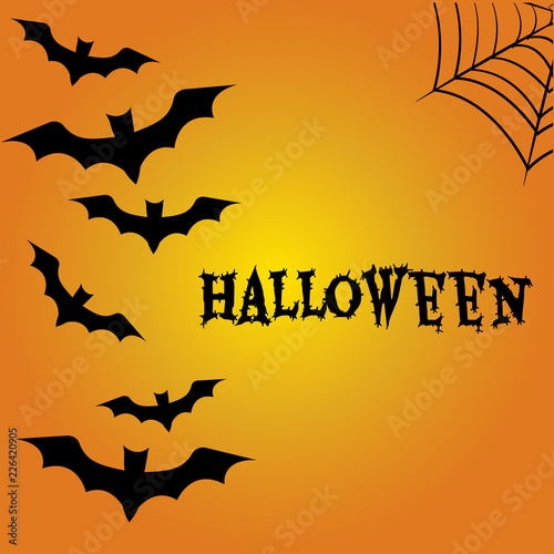 Keuken foto achterwand Halloween Halloween background. All Hallows' Eve, All Saints' Eve. Vector illustration