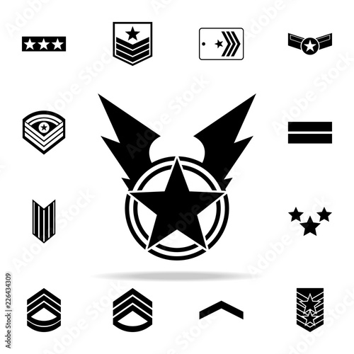 war star icon. Army icons universal set for web and mobile Canvas Print