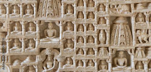 Figuren Wand aus indischem Temepl